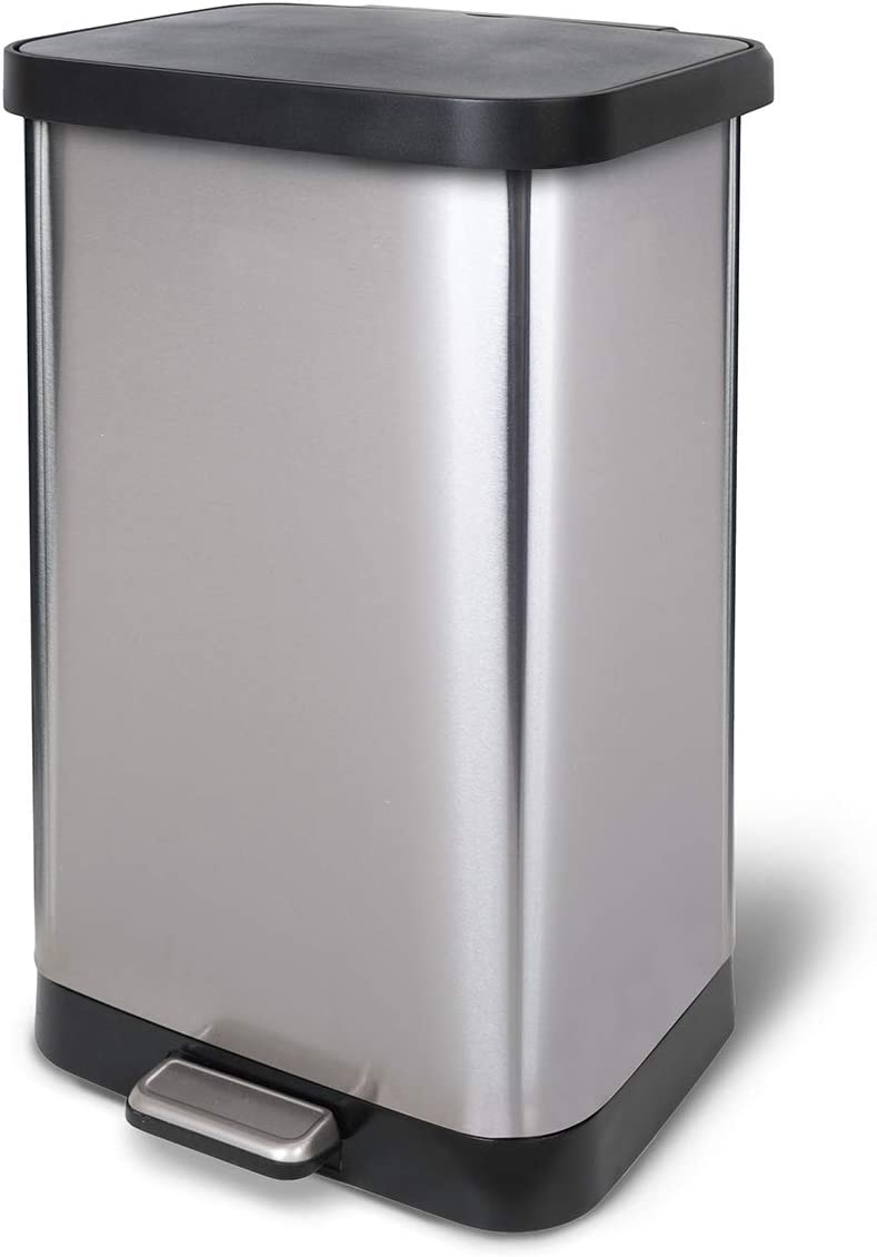 Glad Stainless Steel Step Trash with Can Deluxe Clorox Odor Popular brand Protection