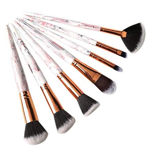 MEISINI Kit de brosses de maquillage motif décoratif fard à joues fondation contour fard à paupières maquillage ensemble d'outils, blanc