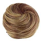 PRETTYSHOP 100% pelo real cabello humano Moño, Postizo, Trenza, Moño de estilo Hepburn, Coletero, Peinado alto, varios colores h311p