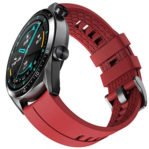 NotoCity Correa Conpatible con Huawei Watch GT 2 /Huawei Watch GT/Watch GT Active/Huawei Watch GT 2 Pro,22mm Pulsera de Repuesto de Silicona Correa Ajustable