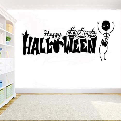 guijiumai Halloween Dekoration Kreative Geister Schädel Vinyl wandtattoo Halloween Kürbis Wandaufkleber wohnkultur DIY Fenster Aufkleber172X75CM