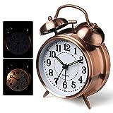 Leegoal Réveille-Matin, Réveil à l'ancienne Réveille-Matin Bell Classique pour Dormeur Lourd, Super Réveil Rétro Classique...