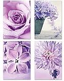 PICSonPAPER Poster 4er-Set Flowers, ungerahmt DIN A4,