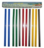 8 Inch Color Magnetic Bar/Strip for Whiteboard, Fridge - Box of 12 Pieces