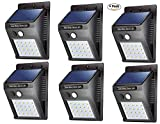 NYALKARAN JARI NK-STORE's 20 LED Bright Outdoor ABS Security Solar Light with Motion Sensor Wireless Waterproof Night Lighting Solar Powered Spotlight for Garden, Front Door, Deck, Driveway (6)
