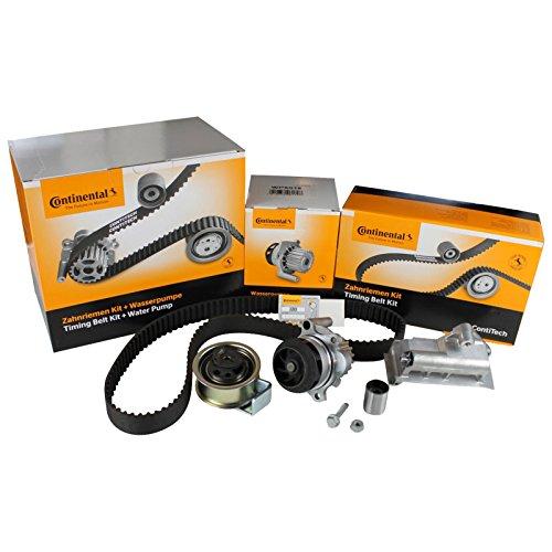 Inspektionspaket Contitech Zahnriemen-Satz CT1028WP7 inkl. Spanndämpfer + Contitech Wasserpumpe + Priner Montagehandschuhe