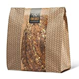 """✔ MORE SPACE FOR ALL YOUR BAKED GOODS... Whether it's a sourdough or a mouthwatering rosemary focaccia, these Kraft paper bags accommodate more or larger treats. We've thoughtfully sized them at 14"""" x 10"""" x 4"""" - 35% larger than the majority of bakery..."""