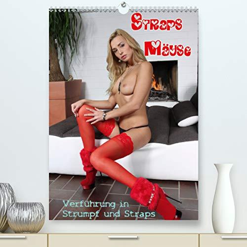 Straps Mäuse - Verführung in Strumpf und Straps (Premium, hochwertiger DIN A2 Wandkalender 2021, Kunstdruck in Hochglanz)