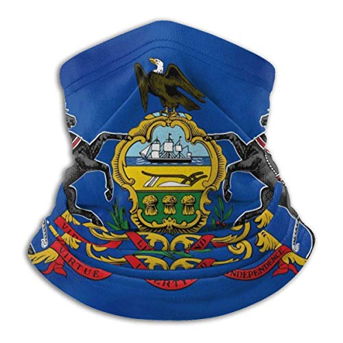 Xian Shiy Pennsylvania wehende Flagge. Pennsylvania State Flag Stilvolle Fleece Neck Warmer Sturmhaube Kapuze