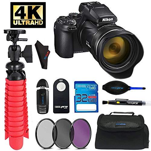 "Nikon Coolpix P1000 16.7 Digital Camera with 3.2"" LCD, Black + Pixibytes Advanced Bundle"