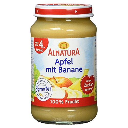 Alnatura Demeter Bio Apfel-Banane, glutenfrei, 6er Pack (6 x 190 g)
