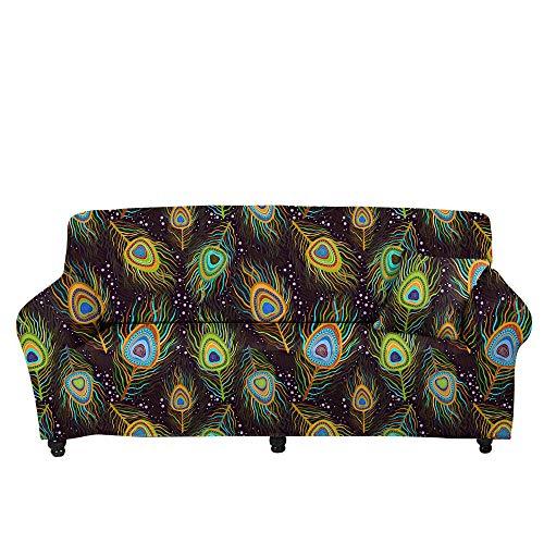 HXTSWGS Fundas de sofá elásticas,Funda de sofá con Estampado de Estrella de Cinco Puntas 3D, Funda de sofá elástica, cojín de sofá de Sala de Estar-Color5_90-140cm