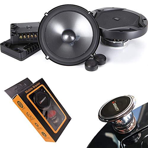 JBL GX600C 420W 6.5 Inch 2-Way GX Series Component Car Loudspeakers with Gravity Magnet Phone Holder Bundle