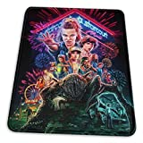 Stranger Things Mouse Pad Mouse Mat with Stitched Edge Non-Slip Rubber Base Large Mouse Pads for Laptops Computers and PCs 12' X 10' X 0.12' Inches