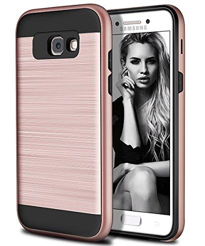 Vunake Galaxy A5 2017 Hülle, Galaxy A5 2017 Handy Hülle Dual-Layer stoßfest Schutzhülle mit weichen TPU Silikon inneren Stoßfänger + Harte PC Anti-Kratzern Wieder Hüllen für Galaxy A5 2017-Roségold
