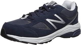 New Balance Boys' 888v2 Running Shoe, Navy/Grey, 6 W US Big Kid