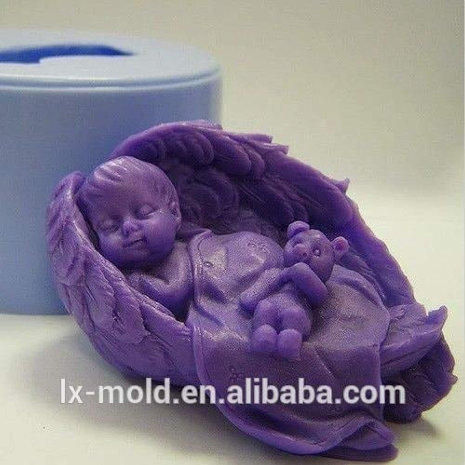 Zoomy in Wing with Bear 3D Silicone molds Handmade soap Mold