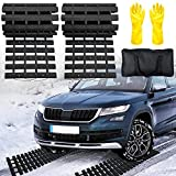 """EVTIME Emergency Devices Tire TractionMats 39.3"""" (L) x 10.8"""" (W), Portablefor Snow, Ice, Mud, and SandUsed to Car, Truck, Van or Fleet Vehicle(2PCS 39in)"""