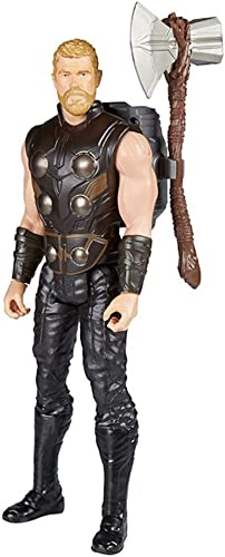 FHMHJH Thor Spielzeugmodell, Kinder Liebes Spielzeugmodell Ist Sehr Zart Thor Actionfigur 12 Zoll, Geeignet Für Kinder über 4 Jahre Alt