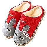 Eagsouni Winter Baumwolle Pantoffeln Plüsch Wärme Hausschuhe Damen Herren Kuschelige Pantoffel Weiche Haus Schuhe rutschfeste Home Slippers