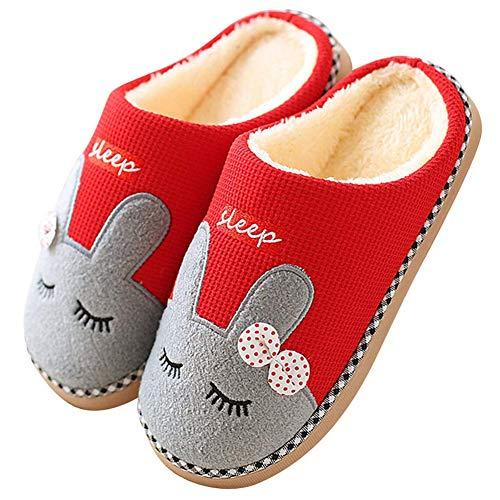 Zapatillas de Estar Zapatillas de Casa Mujer Hombre Invierno Interior Zapatos de Algodón...