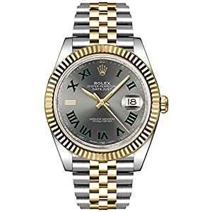 Fashion Shopping Rolex Datejust 41 Slate Dial Men's Luxury Watch on Yellow