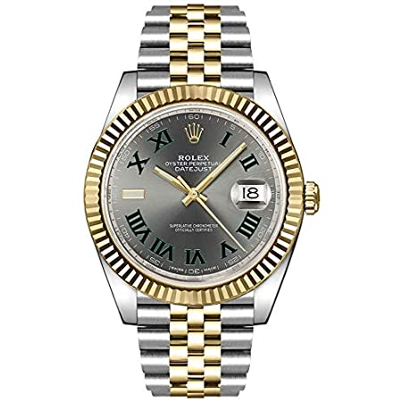 Fashion Shopping Rolex Datejust 41 Slate Dial Men's Luxury Watch on Yellow Rolesor Jubilee Bracelet 126333