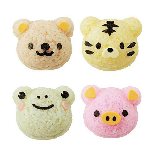 デコ弁簡単ひとつのおにぎり型で4つの動物おにぎりが作れますお弁当グッズくまさんとなかまたちおにぎりセットデコ弁キャラ弁オリジナルメモセット(熊6562)