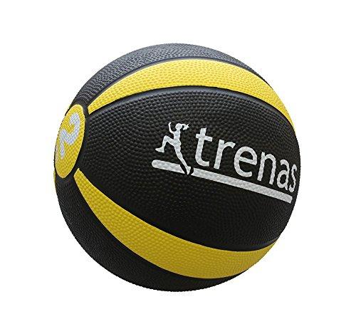 trenas - médecine-Ball en Caoutchouc Pro - 2 kg