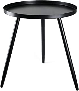 Solid Round Side End Table Sofa Table Triangle Metal...