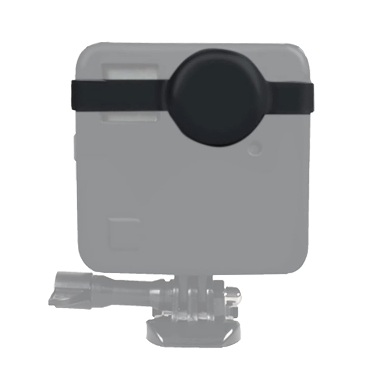 for DJI Gopro Action Camera, for GoPro Fusion Dual Lens Silicone Protective Case(Black) (Color : Black)