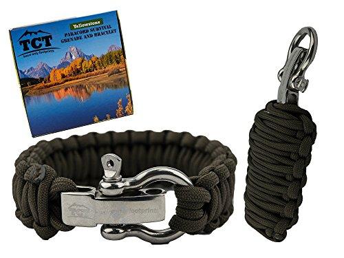 Survival-Armbändern - Mit Feuerstein, Messer, Paracord Für Wandern und Camping