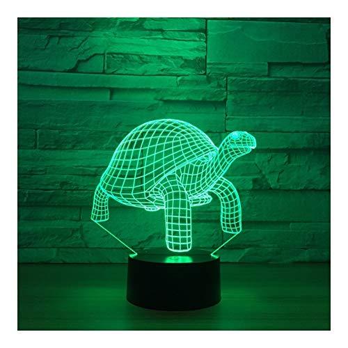 Tortue Creative LED Night Light Acrylique 3D 7 Table des Couleurs Lampe (Color : Turtle - Multi-Colored)