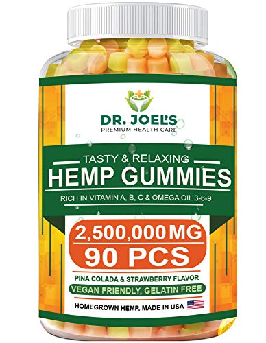 Premium Gummies - 2,500,000 MG, Maximum Strength - 90 cts - Anxiety, Pain, Stress, Nausea, Inflammation Support - Healthy Sleep Formula – Made in USA