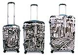 Equipaje, Maletas y Bolsas de Viaje - Premium Designer Maleta Rígida Set 3 Piezas - Heys Artista Fazzino Manhattan Equipaje de Mano + Trolley con 4 Ruedas Media + Trolley con 4 Ruedas Grande