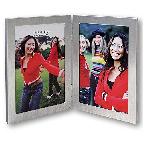 Zep 8702V2 Nick fotolijst, metaal, staand formaat, voor 2 foto's van 13 x 18 cm