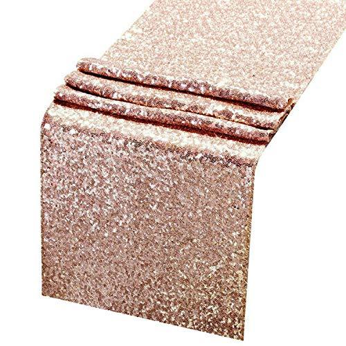 Rose Gold Tafelkleed Goud, Zilver Pailletten Tafelkleed Verjaardag Party Decoraties 30 × 275CM
