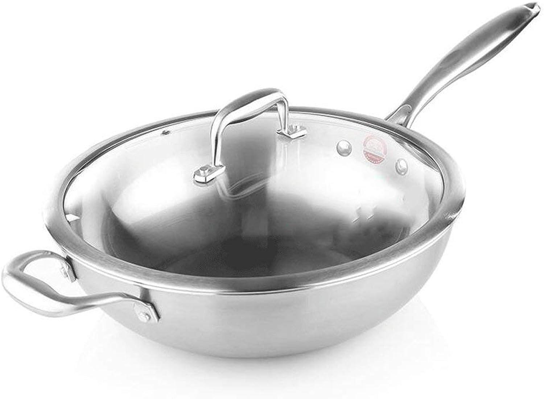 ventas directas de fábrica Recipiente antiadherente sin recubrimiento 304 304 304 acero inoxidable cubierta de vidrio cocina de inducción de gas universal  marca en liquidación de venta