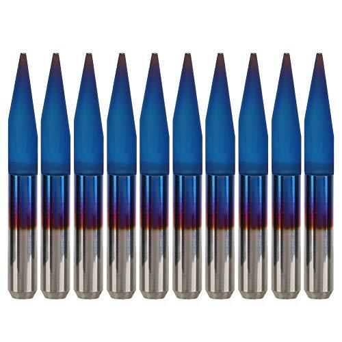 Engraving Bit - Premium Qualität Wolframstahl PCB Engraving Bit CNC-Fräser-Werkzeug 10pcs 3,175 20 * 0,2 °, 20 ° * 0,3, 20 ° * 0,4, 20 ° * 0,5, 20 ° * 0,7 (Auflage : 20°*0.5)