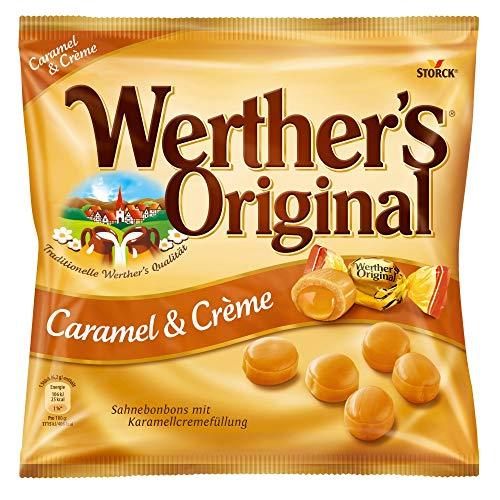 Werther's Original Caramel & Crème (1 x 225g) / Sahnebonbons mit Karamell-Kern
