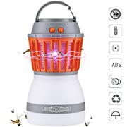 Greatever [2018 Newest Version] Bug Zapper 2 In 1 Night LED Light Bulb Lamp & Mosquito Zapper Repellent| Waterproof,Compact, 2200mAh Rechargeable & Portable| For Indoor & Outdoors, Home & Traveling