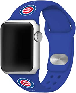 GAME TIME Chicago Cubs Silicone Sport Band Compatible with Apple Watch 42mm/44mm Royal Blue