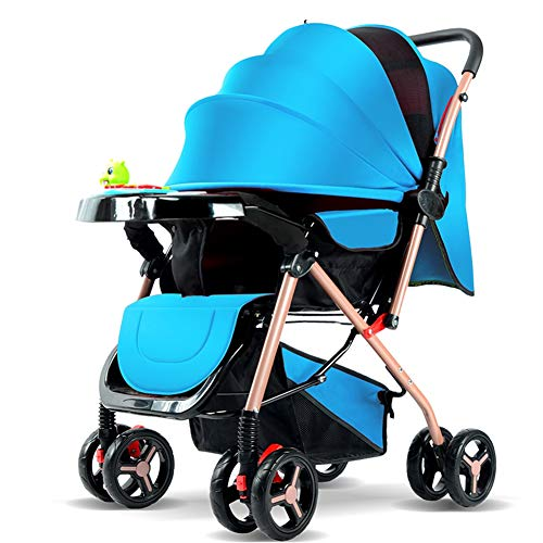 Review YDXW Stroller, Foldable and Portable Pram Carriage Anti-Shock Pushchair, Convertible Reclinin...