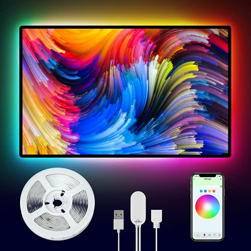 NiteBird Smart TV LED Lights, 9.2ft App Control LED Strip Lights, Work with Alexa and Google Assistant, Music Sync, Voice Control, WiFi TV Backlights for 30-60 inch TV, Gaming Monitor
