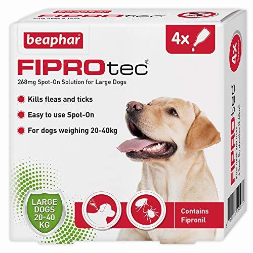 Beaphar Fiprotec Spot-On for Large Dog, 4 Pipette