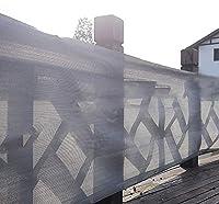 日除け シェード オーニング シェード セイル 防水プライバシースクリーンフェンス、90%遮光布帆メッシュ、ガーデンプールウィンドウカーポート用、日焼け止め透過性生地 (Size : 4m × 8m)