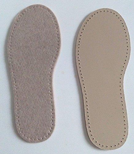 Stafil Filz-Sohle für Hausschuhe häkeln, filzen oder Stricken Größe 39