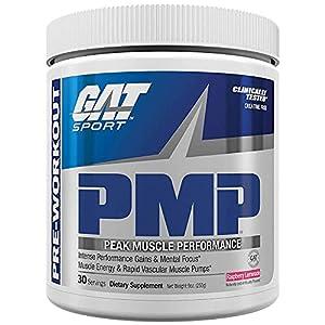 GAT Sport PMP Peak Muscle Performance, Raspberry Lemonade, 30 Servings