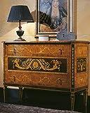 Casa Padrino cómoda Barroco de Lujo con 3 cajones marrón Claro/Negro/Oro 125 x 50 x A. 96 cm - Calidad de Lujo - Muebles de Salón Nobles Barrocos