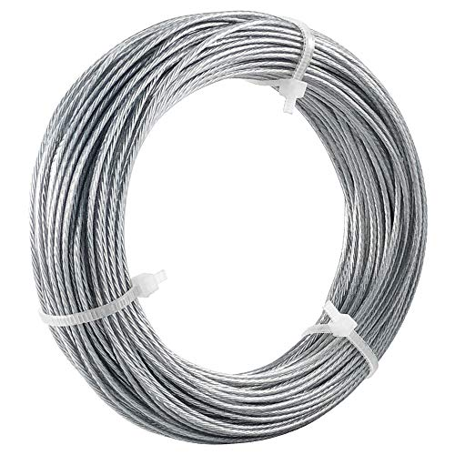 HangDone Picture Hanging Wire Vinyl Coated #4 100-Feet Supports up to 25lbs